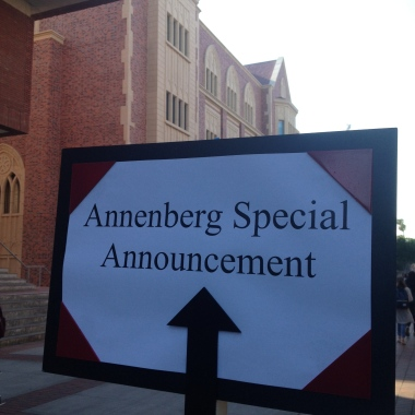 "2/25/15 Annenberg has a ""Special Announcement"". Who knew it would be this big?"
