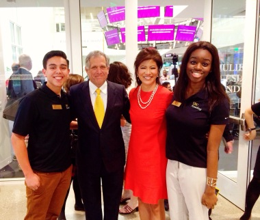 """With Leslie Moonves (President and CEO of CBS), Julie Chen (wife, """"The Talk"""" Host and Annenberg Alumni) and fellow Ambassador, Shawn Hauffen"""