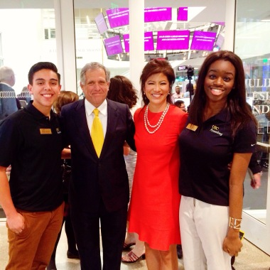 "With Leslie Moonves (President and CEO of CBS), Julie Chen (wife, ""The Talk"" Host and Annenberg Alumni) and fellow Ambassador, Shawn Hauffen"
