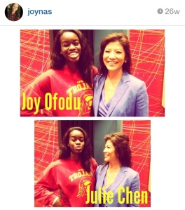 With the lovely Julie Chen last semester in the Annenberg Auditorium.