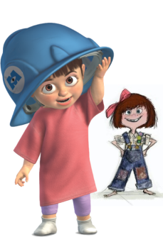 Boo and Ellie, courtesy of Disney Wiki and Polyvore