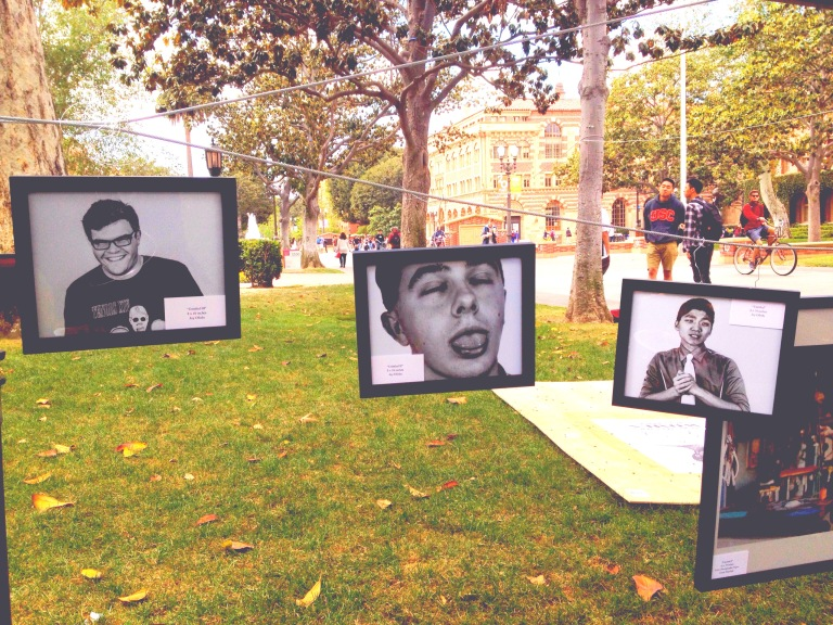 Better In Black and White on display in Alumni Park at the University of Southern California from April 6th-9th, 2015