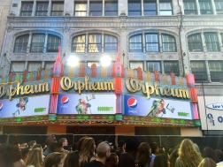 1iota hosted fans right outside of the Orpheum in L.A. Free Pepsi was abundant.