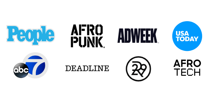 People Afropunk AdWeek USA Today abc 7 Deadline R29 and AfroTech logos